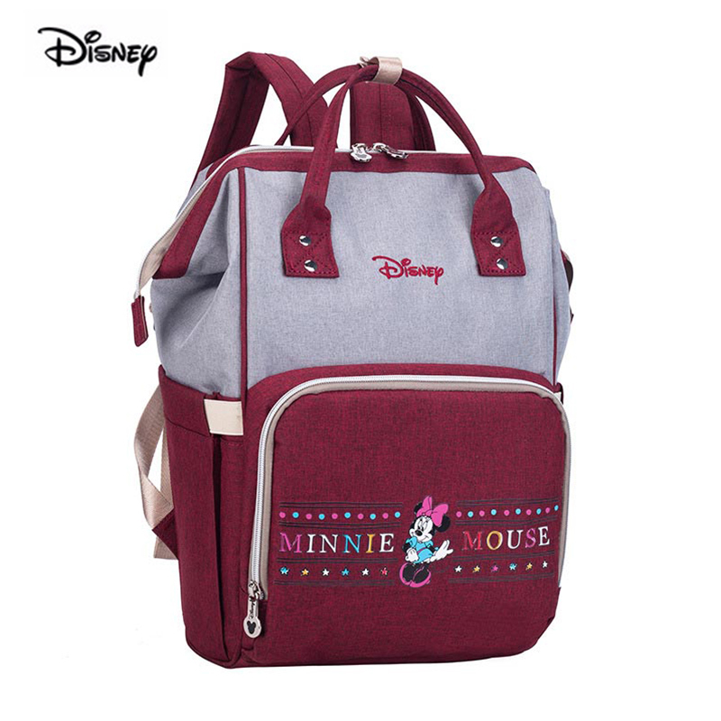 Disney Fashion Bags Great Capacity Of The Mother Of The Messenger Bag For Pregnant Women To Travel Backpack Diaper Bag
