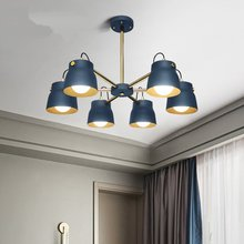 Nordic Loft Industrial Wind Led Pendant Lights Modern Creative Iron Lamp Study Bedroom Restaurant  Lighting Luminaire