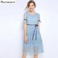 Summer Sexy Mesh Dress Women 2019 Plus Size O neck Short Sleeve High Waistline Princess Dress Female Long Party Dresses Vestido