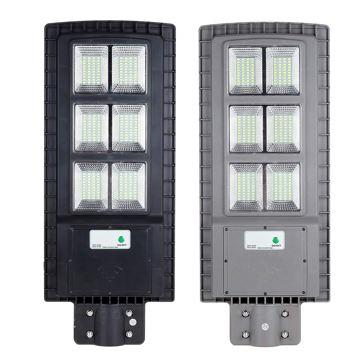 120 W lampe solaire lampadaire solaire actionné contrôle de la lumière extérieure + PIR capteur de mouvement jardin applique murale noir/gris Shell