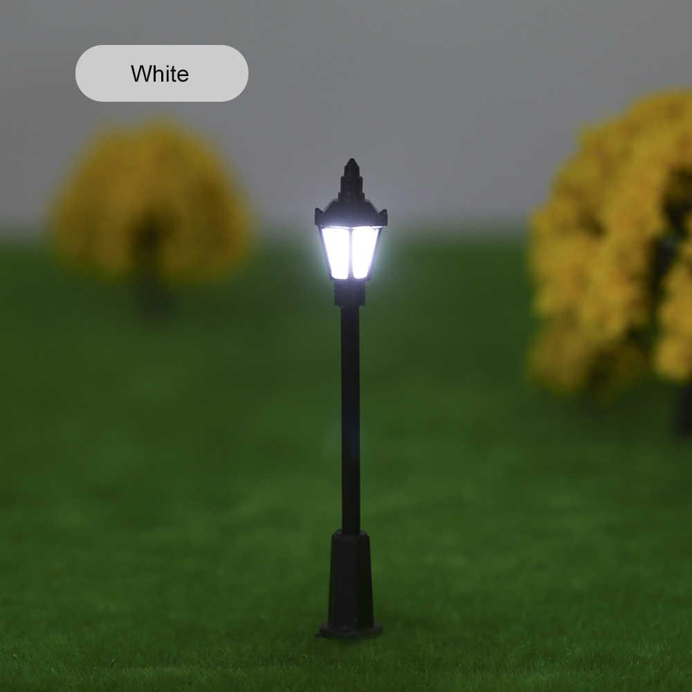 20 sztuk biały/ciepły biały Model światła uliczne oświetlenie lampa led układ Lamppost pociąg ogród plac zabaw dekoracje 3 wagi
