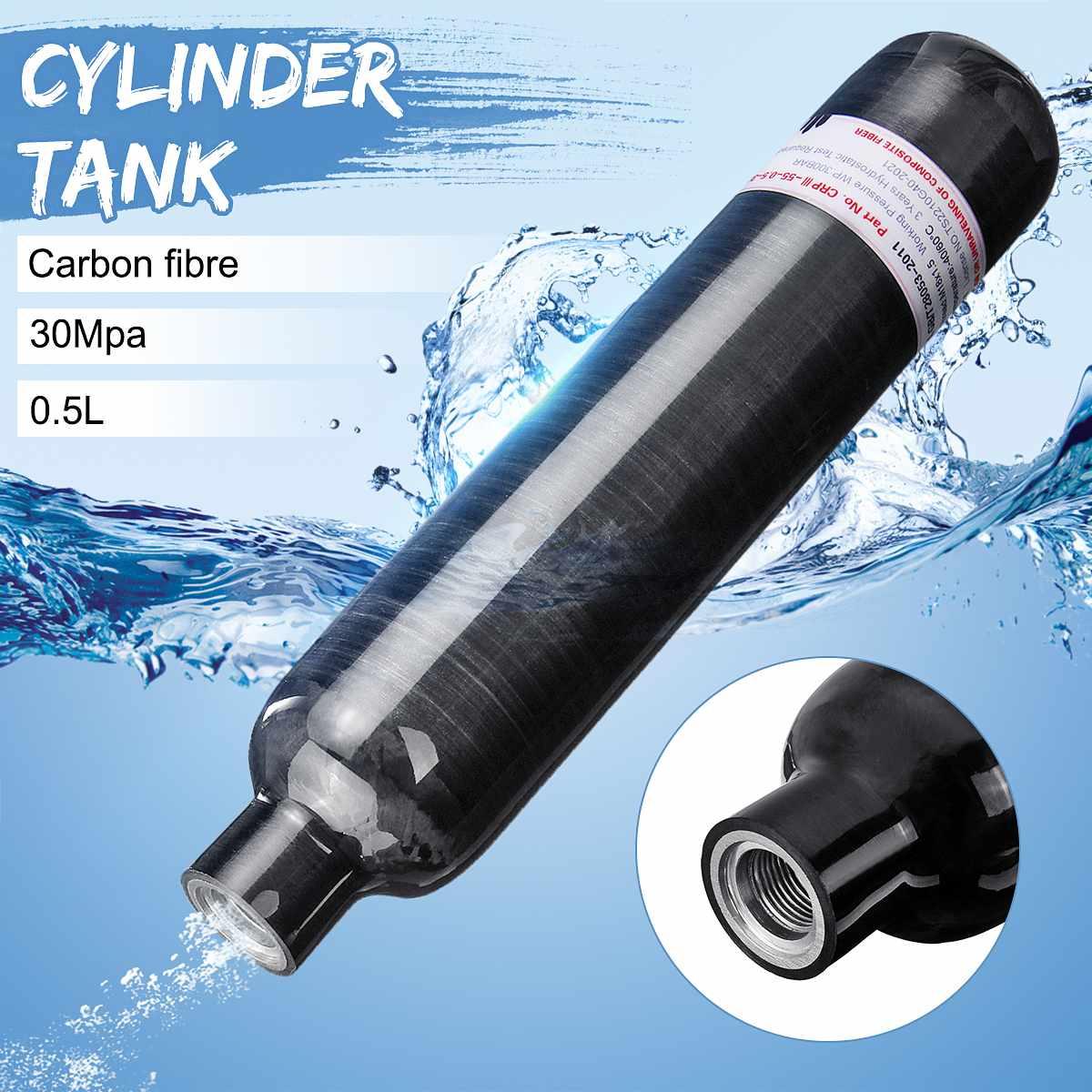 PCP Paintball Airforce Airsoft 0.5L 1.1L fibre de carbone réservoir haute pression plongée sous-marine Cyclinder HPA bouteille d'air M18x1.5 fils
