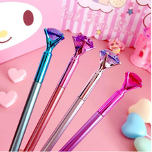Kawaii Gel Ink Pen Big Gem Metal With Large Diamond Magical Fashion School Office Neutral Students Gift Awards