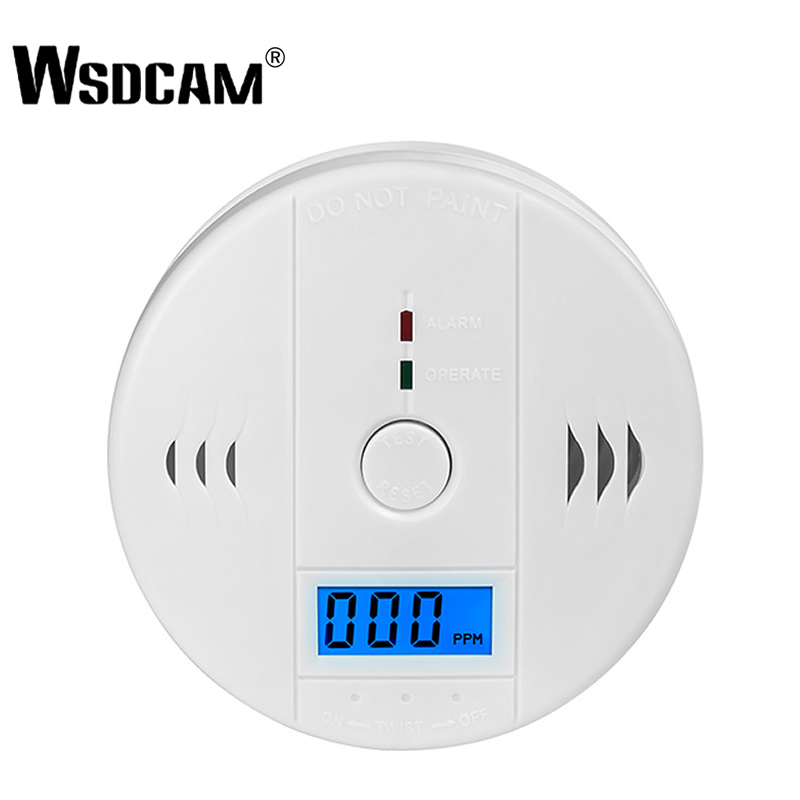 Wsdcam CO Sensor 85dB Carbon Monoxide Detectors LCD Photoelectric Independent Poisoning Warning Alarm CO Gas Sensor Detectors(China)