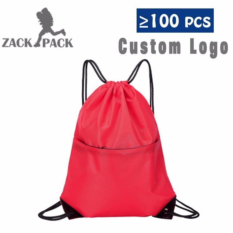 3819ada9 10 шт., Пользовательский логотип дешевые, с кулиской чехол Training Холст  Рюкзак Черный школьная