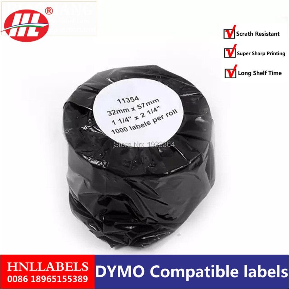 1X Rolls Dymo11354 Dymo Compatible Labels 11354 Labels 57mmx32mm 1000 Labels Per Roll Etiquette Multipurpose Labels