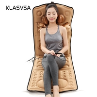 KLASVSA Airbag Magnetic Vibrate Heating Massage Mattress Cervical Therapy Neck Shoulder Back Waist Relaxation Bed Cushion Pad