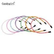 8pcs Children Novelty Hairbands Glitter Can flip Sequins Headband Hair Hoop for Girls Women Girls Headbands Halloween Headdress