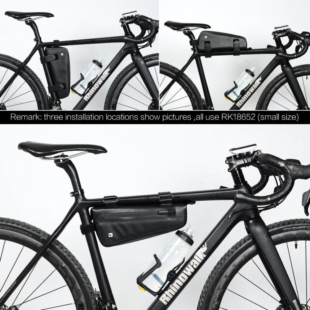 RHINOWALK 2.5L Bicycle Bag Bike Front Frame Tube Triangle-Bag Road MTB Waterproo