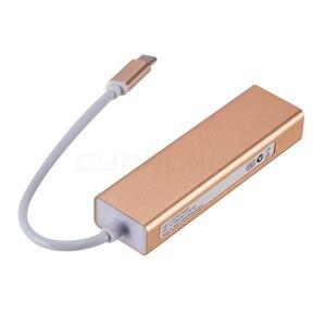 Image 5 - Док станция с адаптером Type C, адаптер с USB 3,1 на USB 3,0x3 Ethernet LAN RJ45 сетевая карта, кабель для передачи данных, конвертер для ноутбука MacBook, Windows