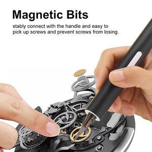 Image 2 - DOERSUPP Mini électrique sans fil magnétique tournevis outil Rechargeable Li ion batterie précision main tournevis jeu de bits