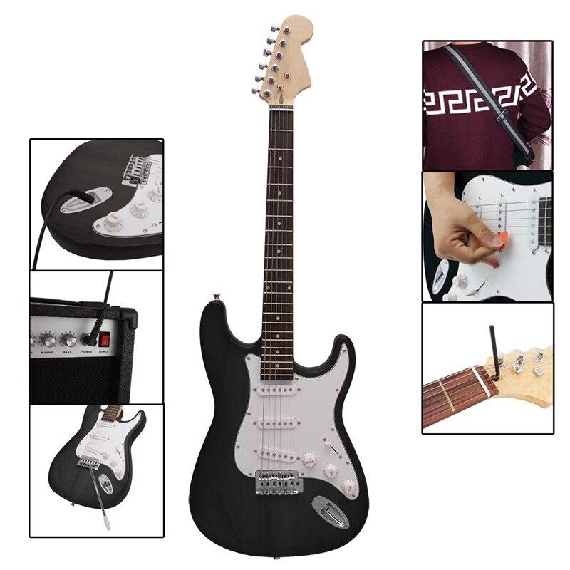 39 zoll 6 Saiten E gitarre Palisander Griffbrett Linde Guitarra mit Gig Bag für Anfänger oder Professionelle Leistung - 5