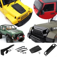 Mayitr Windshield Blades/Snorkel /Engine Cover RC Car Truck Decoration Accessories For 1:10 Axial SCX10