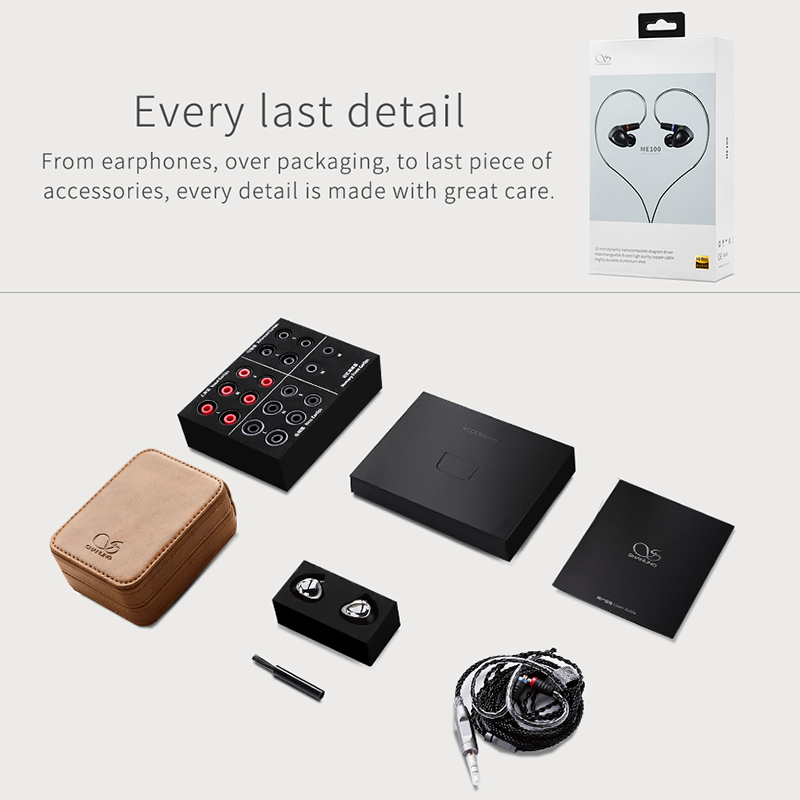 SHANLING ME100 10mm PE PEEK Dynamic Hi-Res HiFi In-Ear Monitor Earphone All-Aluminum Construction with OFC Cable MMCX Connector