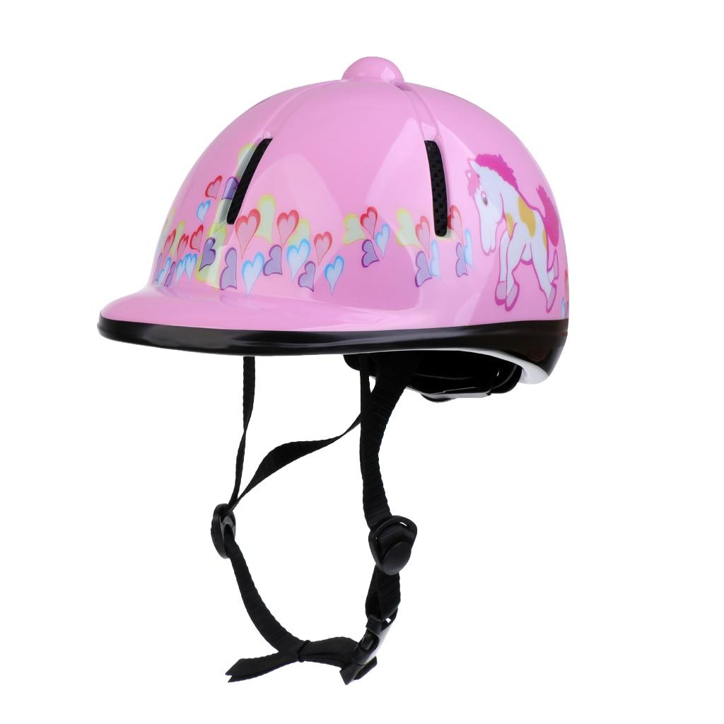 Children Kids Adjustable Horse Riding Hat/Helmet Head Protective Gear Pink