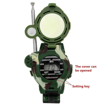 Camouflage Hot Way Radio Walkie Talkie Kids Child Spy Wrist Watch Gadget Toys Outdoor Interphone Toy Gift For Chirlden 3