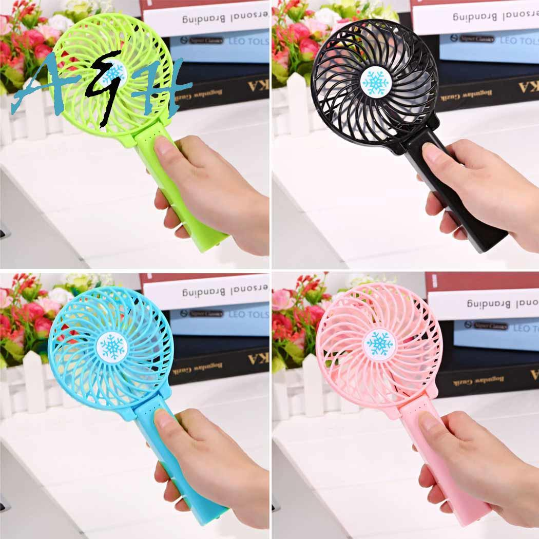 Portable Handheld Rechargeable Foldable Mini USB Fan Air Cooler Air Conditioning Fans Cooling Fan Battery NOT Included Home Trav