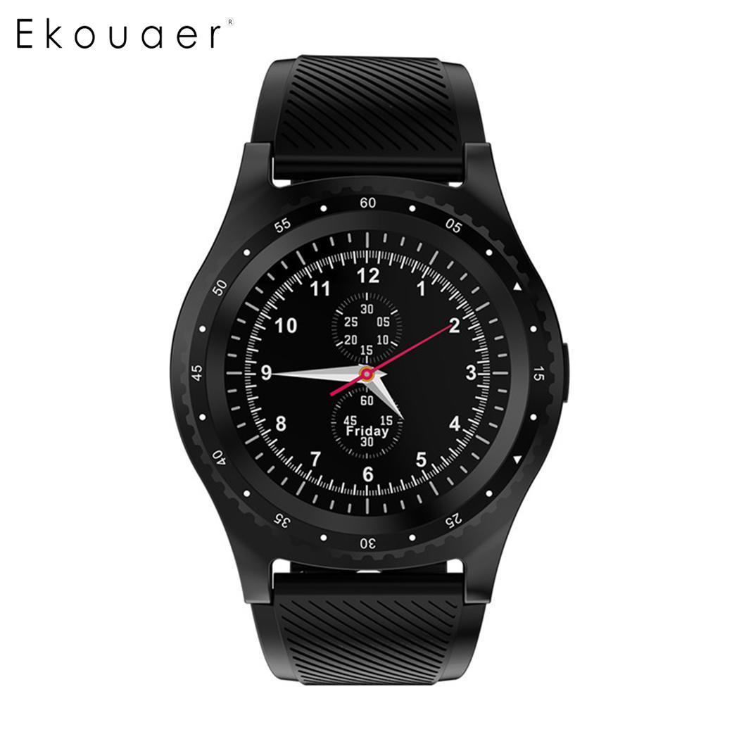 Unisexe Casual Forme Ronde LCD Écran Boucle Fermeture Montre Smart Watch