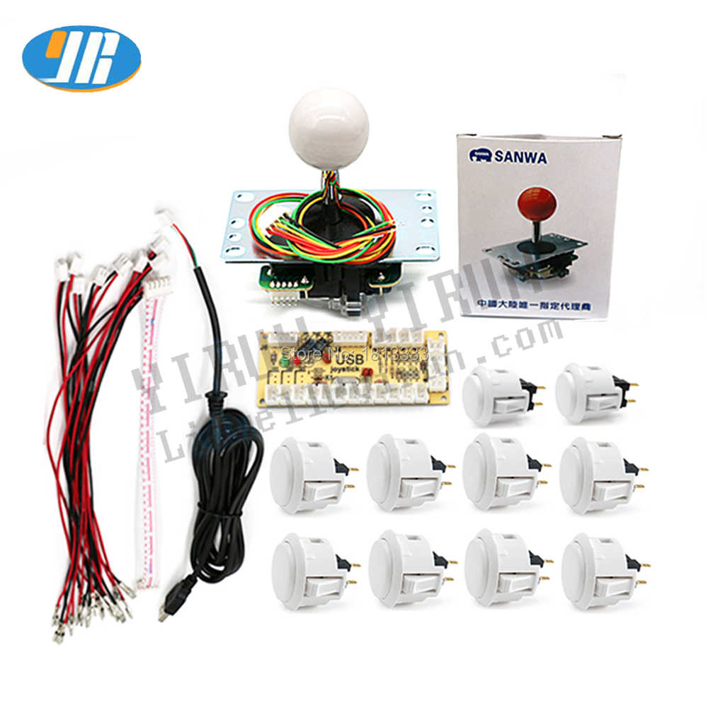 기존 Sanwa Japan JLF-TP-8YT OBSF-30 Push Btton USB to JAMMA MAME Arcade DIY Kit 용 PC 제로 지연 인코더