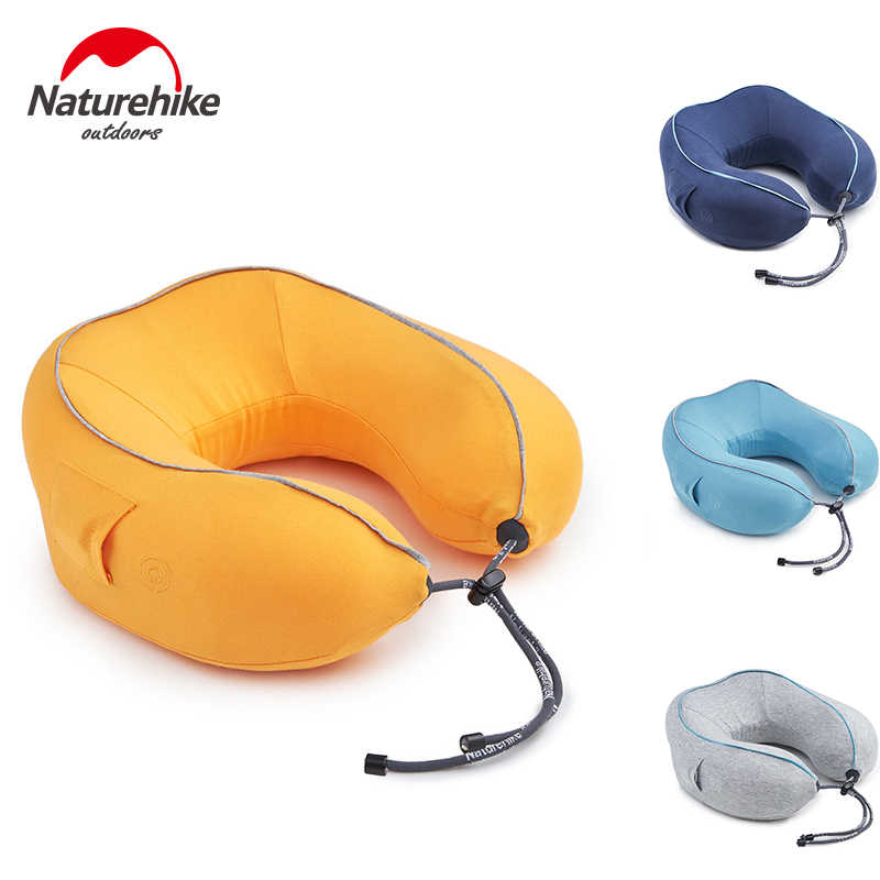 Waterproof Inflatable Neck Head Rest Air Cushion U Shape Pillow Travel camping