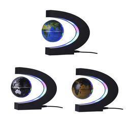 Globe World Map LED Floating Tellurion C Shaped Magnetic Levitation Floating With LED Lights EU/US/UK/AU Plug For Home Decor