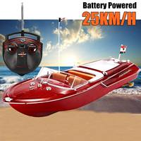 Simulation Remote Control Speed Boat Yacht Toys Vehicles RC Radio Ship Boat Kids Model Toys Christmas Gifts Battery Powered