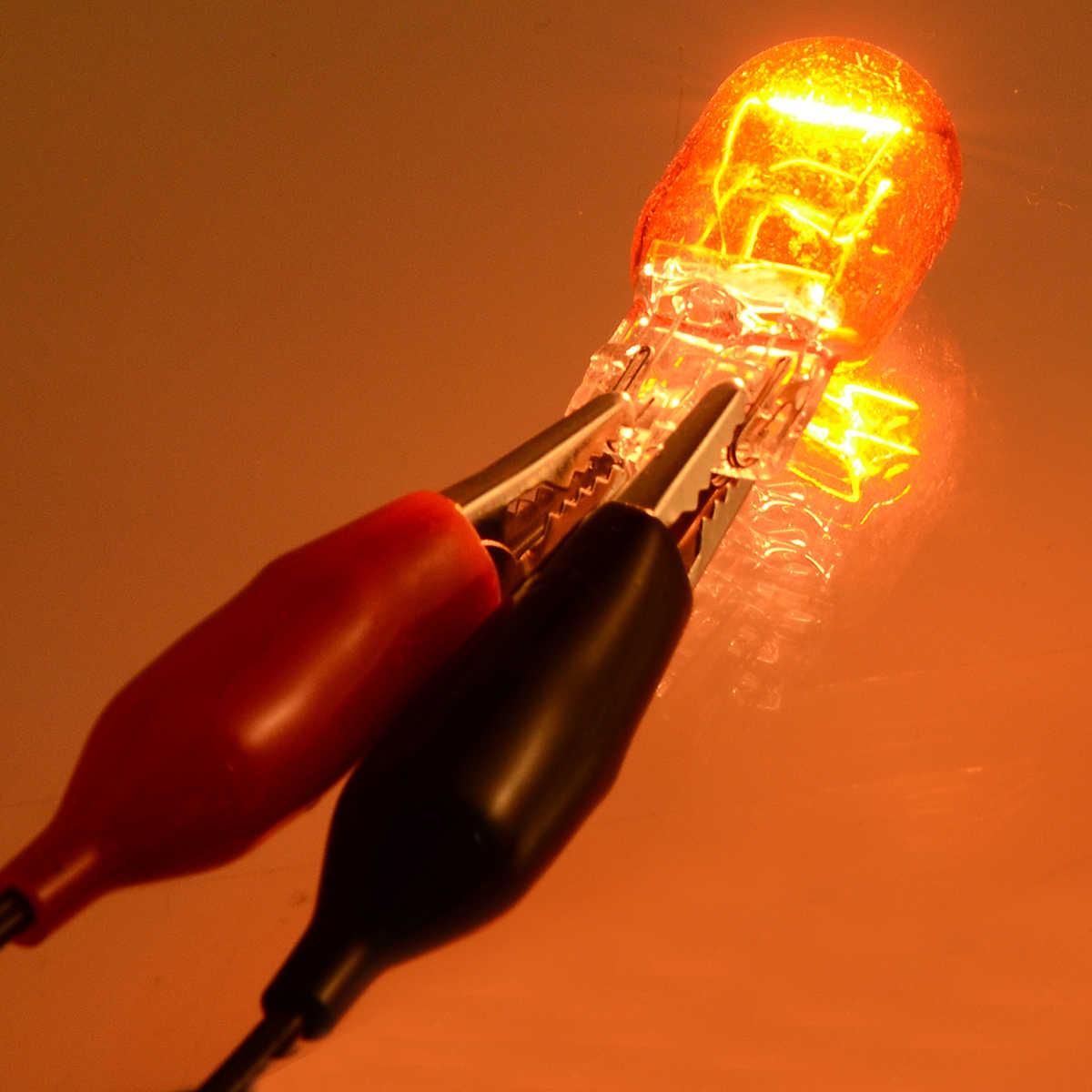 Source de lumière de voiture 2 pièces DRL T20 7443 7440 W21/5W ampoule halogène double Filament ambre verre indicateur lumineux clignotants