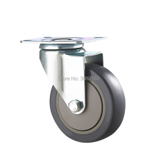 3 inch 4 5 grey color single bearing plate activity caster
