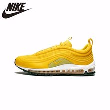 "Nike W Air Max 97 ""Mustard""New Arrival Original Full Palm Air Cushion Running Shoes For Men Yellow Light Sneakers #921733-701(China)"