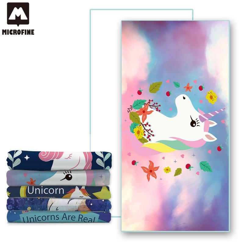 Brisača za plažo Microfine Unicorn Fast Dry Sport Kopalni plašč - Domači tekstil