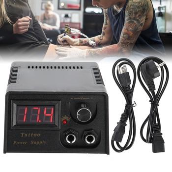 Profesjonalny aparat cyfrowy tatuaż zasilanie maszyny do tatuażu LCD mocy z kabel stałe Tattooo makijaż zasilacze tanie i dobre opinie Tattoo Power Supply 110V 220V