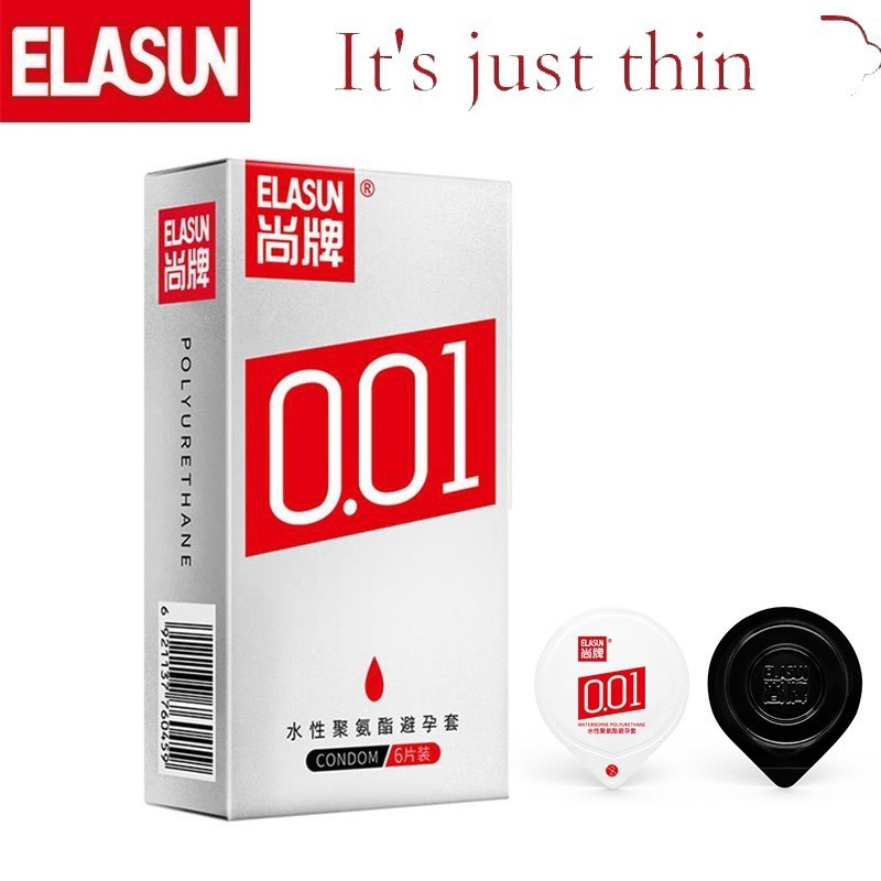 Elasun 001 Condom Hyaluronic Acid Smooth Lubricated Condoms For Men Latex Ultra Thin Contraceptive Condoms Sex Toy Prezervatif