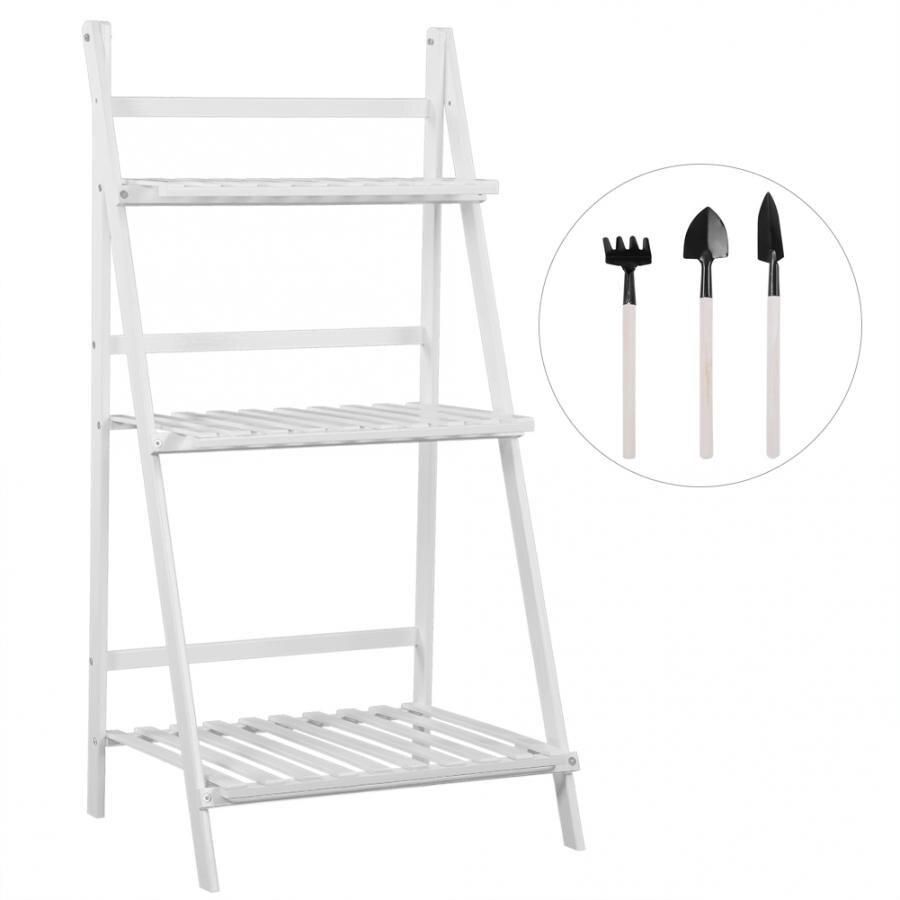 TOPINCN 4 Tiers Ladder Shelf Bookcase Storage Display Rack Plant Flower Stand Shelf for Office Bathroom Living Room Modern Bookshelf Black