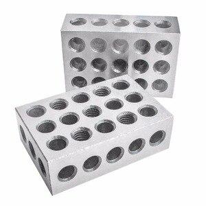 "Image 4 - 2pcs/set Hardened Steel 25 50 75mm Blocks 0.0001"" Precision Matched Machinist 123 Milling Tool 23 Holes 1 2 3"" block gauge"