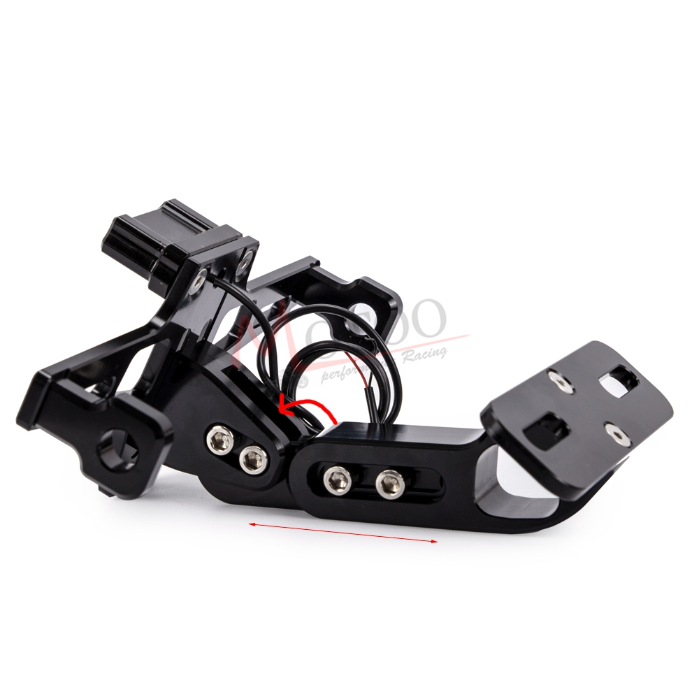 Image 4 - Universal CNC Aluminum Motorcycle Adjustable Angle Rear License 