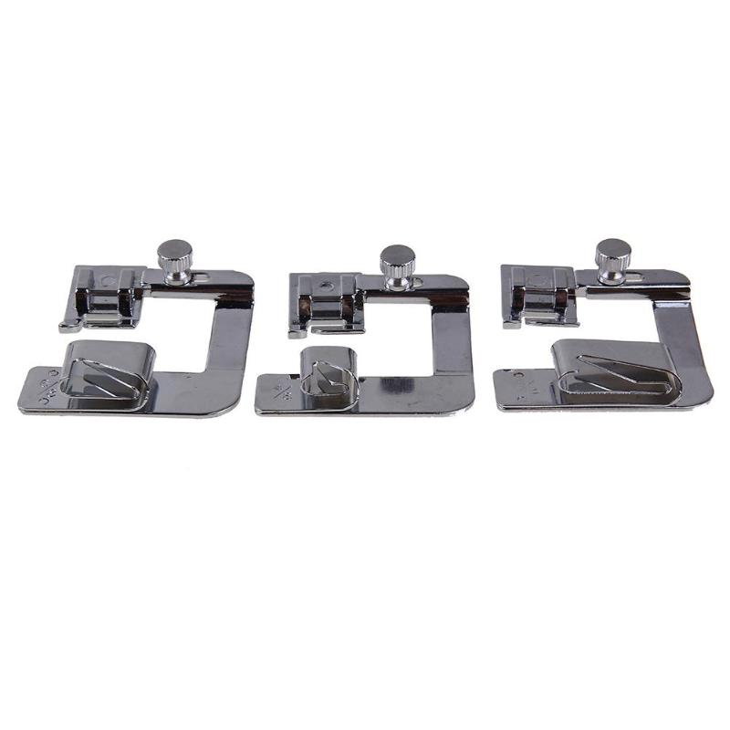 1-3Pcs Domestic Hemming Cloth Strip Presser Foot Sewing Machine Parts Hemmer Foot Rolled Hem Foot for Singer Brother