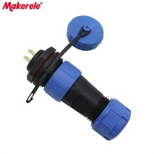 SP17 Waterproof Connectors Aviation Plug 17MM Male And Female Rear Nut Socket Connector 4 Pin Protective Plug IP68 New Arrivals