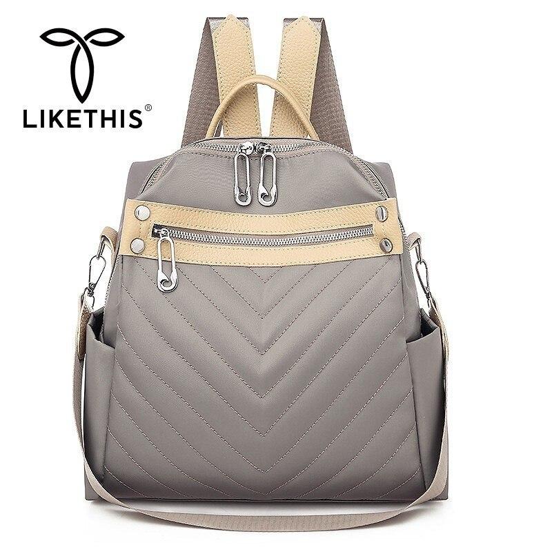 LIKETHIS New Designer Fashion Women Backpack High Quality Youth Backpacks Female School 2019 Shoulder Bag Bagpack Mochila Ladies