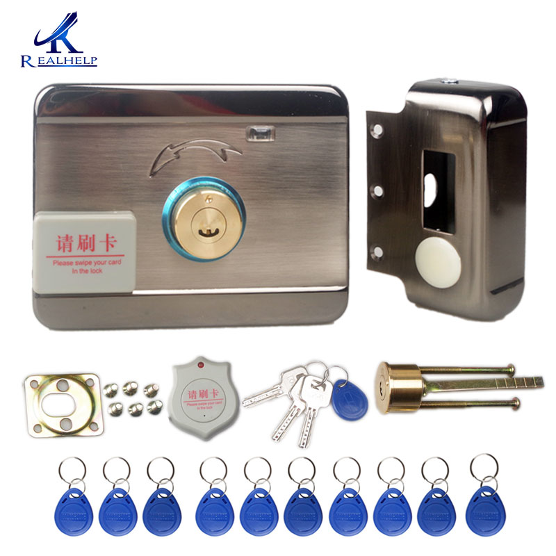 Electronic RFID Door lock Wireless Electric lock for Metal Electric Door Lock 125KHZ RFID Card Lock