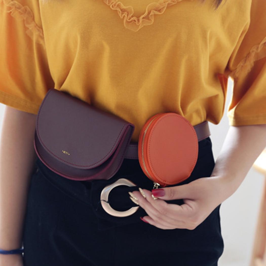 Fanny Packs Für Frauen Modische Farbe Passenden Taille Tasche Leder Mit Münzfach Einstellbare Taille Pack Gürtel Tasche Tasche Pochete Ungleiche Leistung Gepäck & Taschen
