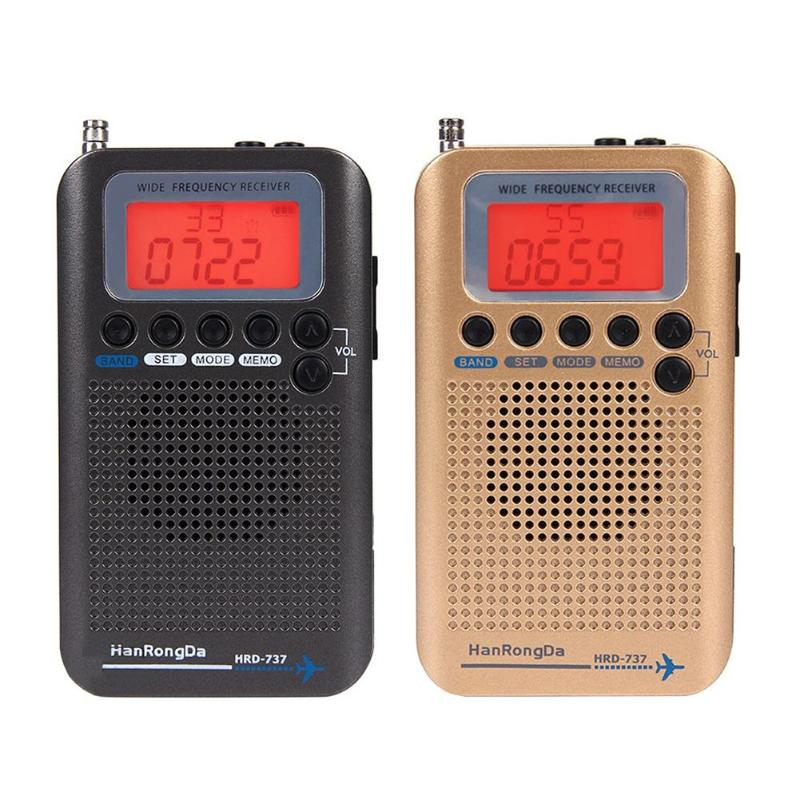 Professioneller Verkauf Tragbare Fm/am/sw/vhf Flugzeug Band 1 Zoll Lcd Display Radio Empfänger Volle Band Alarm Uhr Lcd Bildschirm Radio Stereo Recorder Tragbares Audio & Video