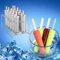 Ice Cream Mold Household 304 Stainless Steel Popsicle Mold Set Of 6/10 DIY Fruit Innovative Ice Tube Mold Ice Cream Party
