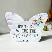 New Figurines LED Night Light MDF Nordic Crafts Butterfly Ice Cream Cloud Wall Lamp Wedding Gifts For Guests Party Decoration