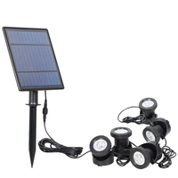 5 pces luzes ao ar livre luzes solares à prova dwaterproof água sensor de movimento rgb fonte luzes do jardim|Lâmpadas solares| |  -