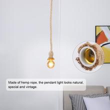 1,5 м E27 лампа база пеньковая веревка шнур электрический провод DIY подвесной светильник Промышленный Свет домашний комплект лампа декоративная лампочка держатель