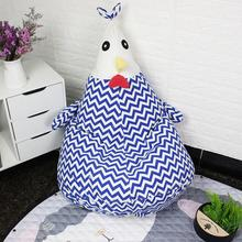 Portable Kids Cartoon Chick Shape Bean Bag for Toys Clothes Storage