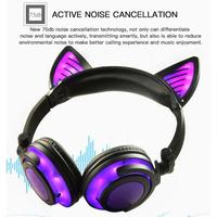 Laptop LED PC Earphone Headset Bluetooth For Glowing Kid With Flashing Ear microphone Headphones Light Adult Wireless Cat