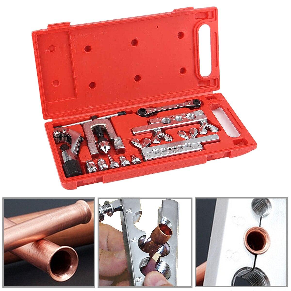 Jeu d'outils de balancement de torchage ensemble d'outils de réfrigération de réparation de tuyau de coupe de Tube W/Case ensembles d'outils à main 38x17.5x4 cm