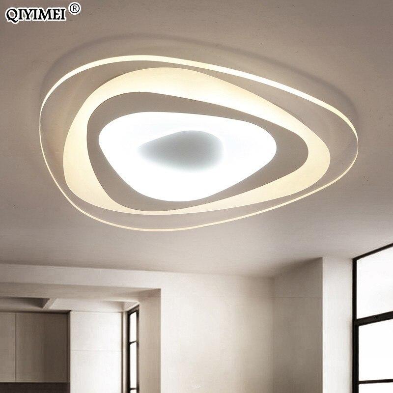 Ultra ince üçgen tavan ışıkları lambaları oturma odası yatak odası için lustres de sala ev aralık LED avize tavan