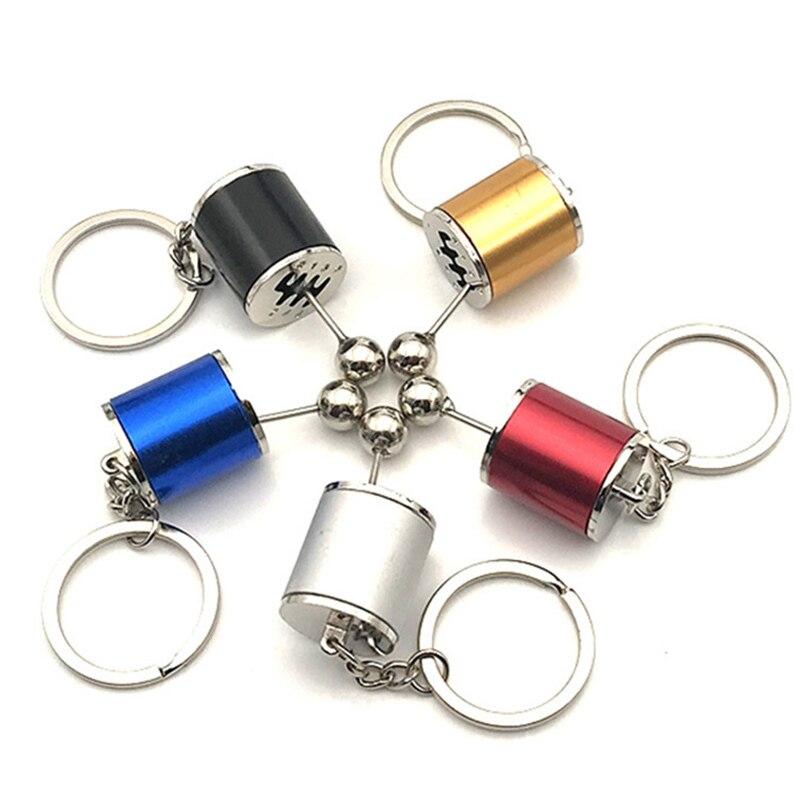 Gear Knob Gear Shift Gear Stick Gear Box Metal Key Chain Keyfob Car Keyring FT
